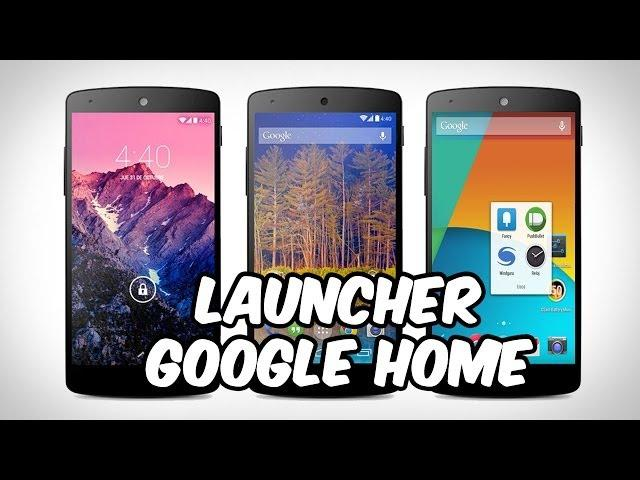 Instalar Nuevo Launcher Android 4.4 KitKat [Google Home] para Android