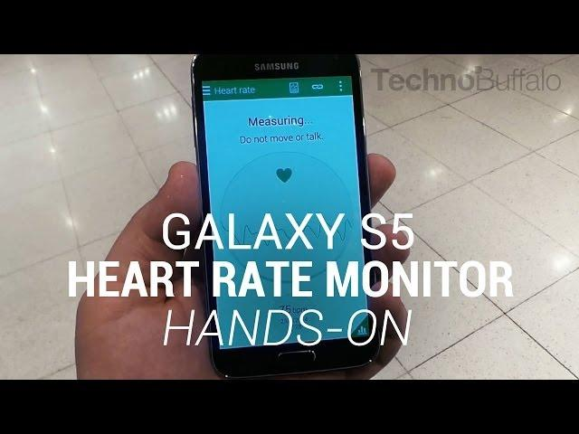 Galaxy S5 Heart Rate Monitor Hands-On