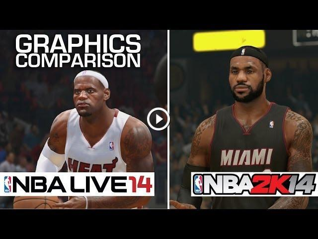 NBA 2K14 vs NBA Live 14 - Graphics Comparison (PS4)