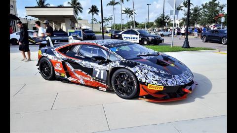 Hot Girl Hot Cars Fast Life Rally Supercar Meet Lamborghini