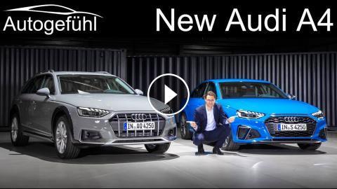 New Audi A4 Facelift Premiere Review S4 Sedan Vs A4 Avant Vs