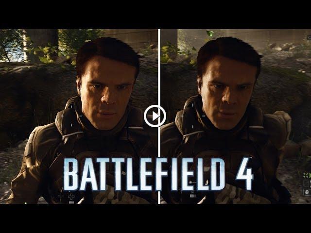 Battlefield 4 Xbox One PS4 Graphics Comparison