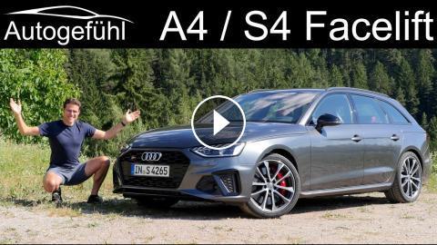 Audi A4 Facelift Full Review S4 Avant Driving 2020 Autogefuhl