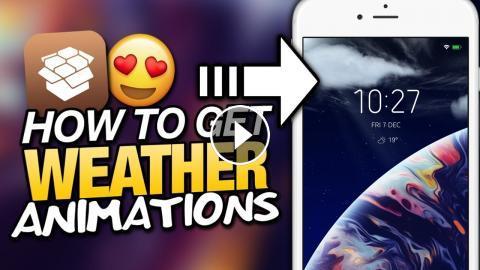 How To Get WEATHER ANIMATIONS On LOCKSCREEN iOS 11 Tweak