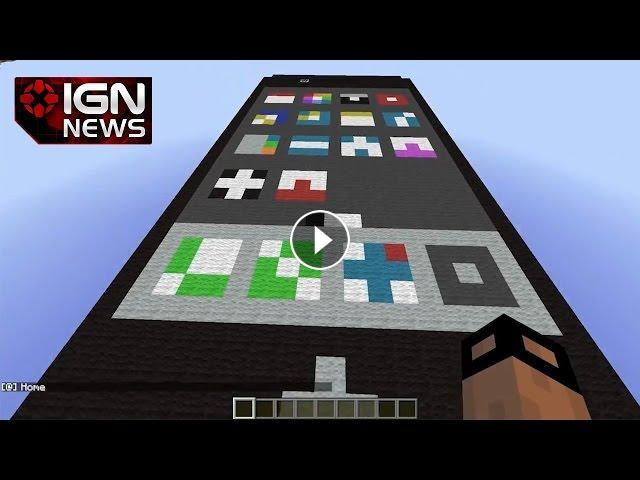 Man Builds Working iPhone in Minecraft - IGN News